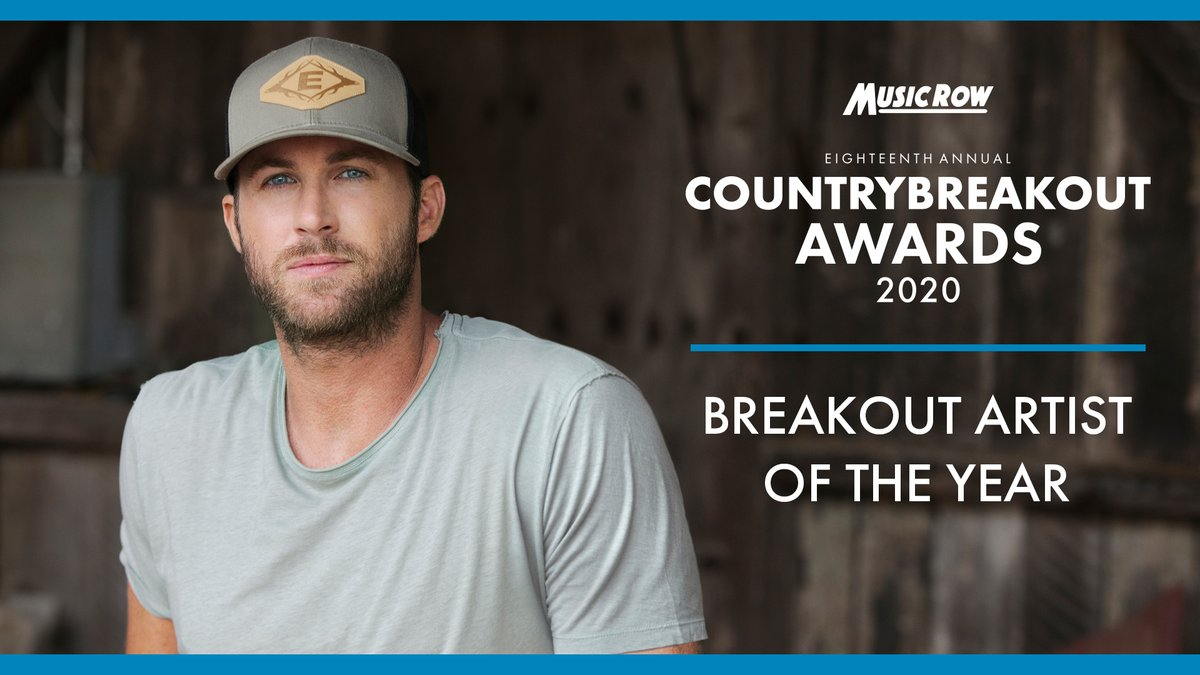 Thank you to @MusicRow for naming me Breakout Artist of the Year!