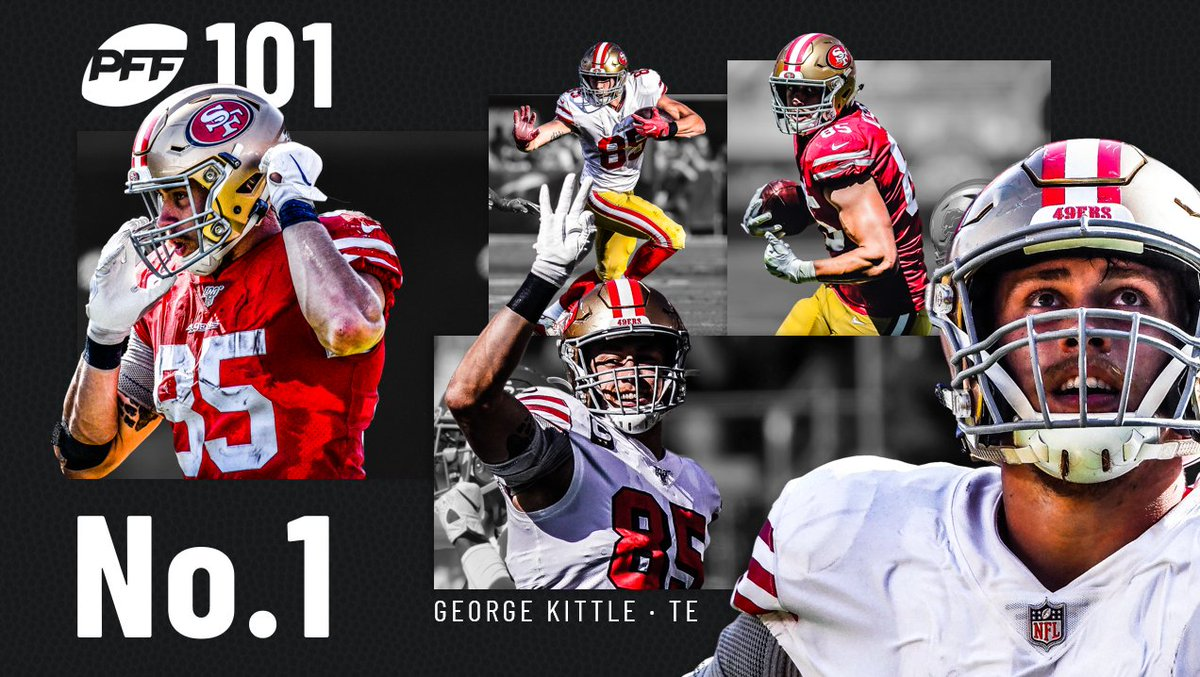 PFF 101 best players in football 1. George Kittle