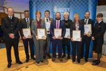 """""""These awards contain examples of excellent detective work and a real willingness to go #AboveAndBeyond by officers and support staff."""" https://www.westyorkshire.police.uk/news-appeals/police-and-residents-honoured-kirklees-police-awards… #AmazingWork pic.twitter.com/Se0sMeyFi9"""