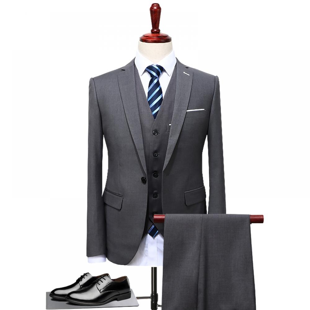 #menstyle Men's Suit Plus Size 4XL 3 Pieces(Jacket+Vest+Pant)