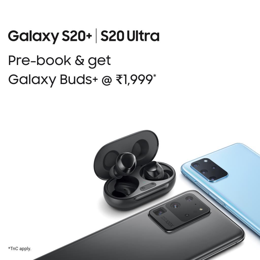 Introducing the Galaxy S20+ and Galaxy S20 Ultra. Pre-book now and get Galaxy Buds+ @ Rs 1,999 http://spr.ly/60161Y04j  TnC Apply #GalaxyS20 #Samsung