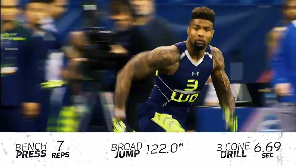 On this day in 2014, @obj showed off his skills at the  Combine.   📺: 2020 #NFLCombine starts Thursday 4pm ET on @nflnetwork