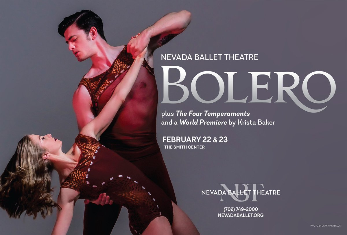 This weekend!  I wouldn't miss it!! @NVBallet @SmithCenterLV #Bolero #WorldPremiere #NVBallet
