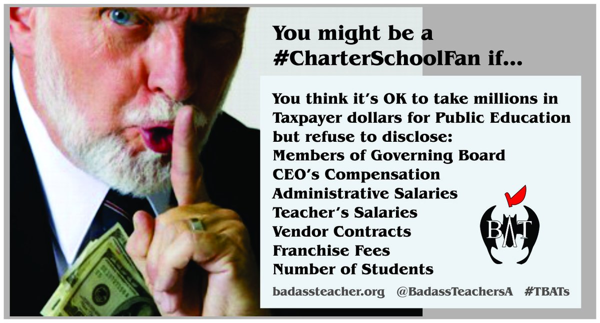 @RepRoybalAllard @rosadelauro @RepBarbaraLee @repmarkpocan @RepKClark @RepLoisFrankel @RepCheri @RepBonnie Charter Corruption Crisis: IDEA Charter Chain approves private jet lease 4 nearly $2 mill & only reverses approval when vote becomes public. texasmonitor.org/charter-school… #TBATs