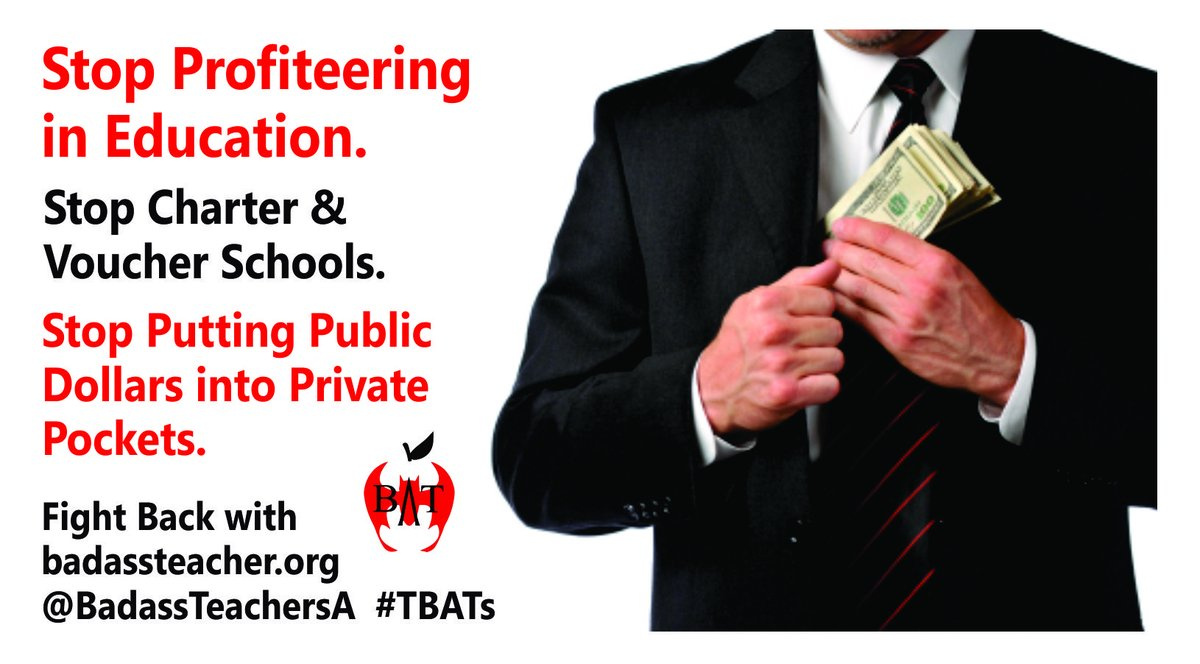 @RepRoybalAllard @rosadelauro @RepBarbaraLee @repmarkpocan @RepKClark @RepLoisFrankel @RepCheri @RepBonnie We have a crisis of charter corruption in the U.S. - L.A. couple makes millions from self-dealing with their charter schools. latimes.com/local/educatio… #TBATs