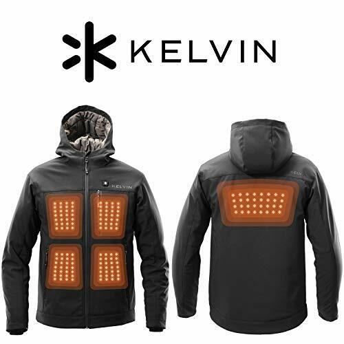 Kelvin Coats New Heated Jacket for Men – 5 Heat Zones, 8 Hr Battery, Black Softshell #menstyle