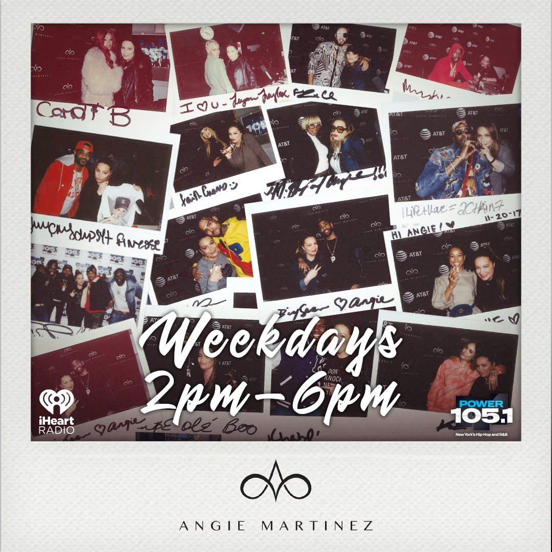 You know what time it is..  The Angie Martinez Show just started Don't miss #TrendingTopics coming up at 3 O'Clock    http:// Power1051fm.com/listen    <br>http://pic.twitter.com/qoE5oy6nKI