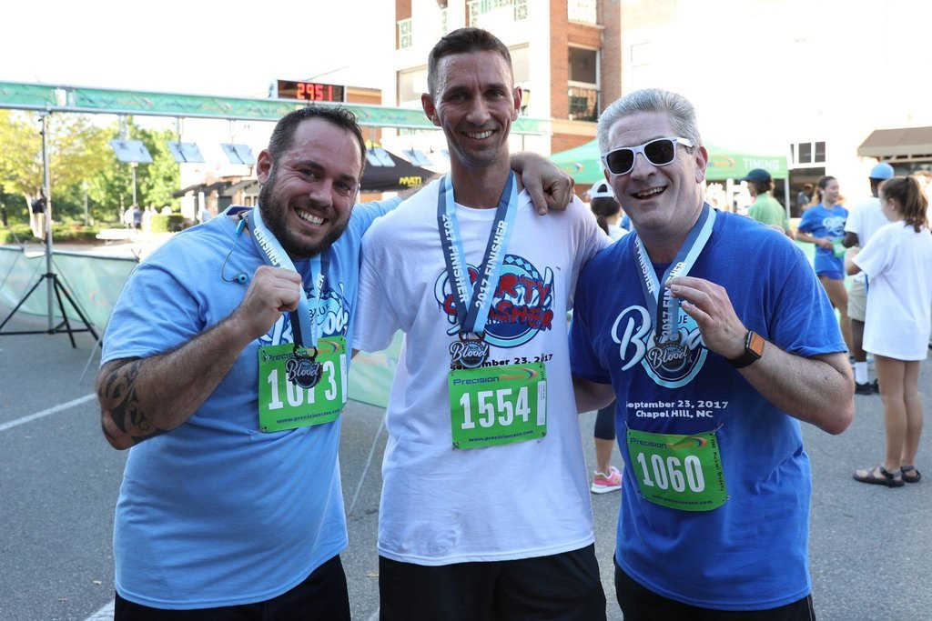 #Run, walk, or dribble your way to the finish line at the @BlueBloodRivals Run! March 7, the morning of the final #Duke vs Carolina #basketball game, earn your 'Game-Day Bling' when you complete the #5k run in #Durham!  REGISTER:  👈🏼  📸 @BlueBloodRivals