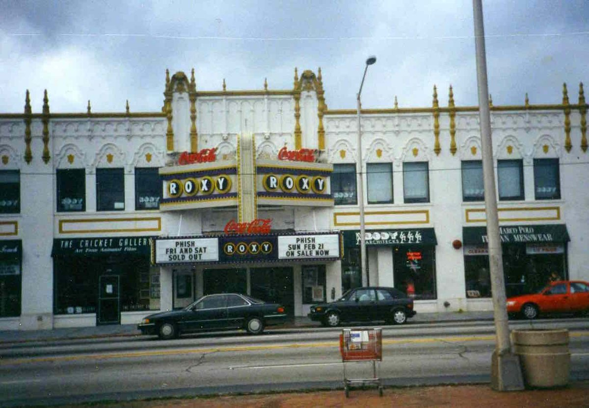 28yrs since #phishs epic 3-night stand 2/19/93-2/21/93 at The Roxy ATL (photo by @brianfeller)