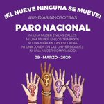 Image for the Tweet beginning: 💜 #UnDíaSinNosotras: mujeres convocan a