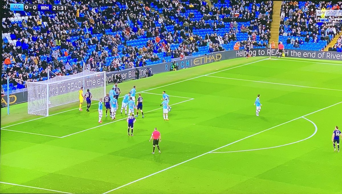 Have #ManchesterCity fans also been banned for two years #MCIWHU 😂⚽️🤣