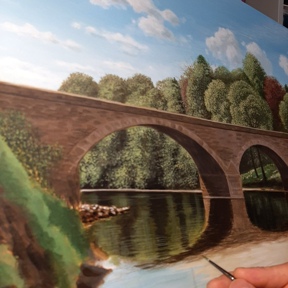Work in progress.......#art #Cumbria #eden #acrylics #armathwaite #painting