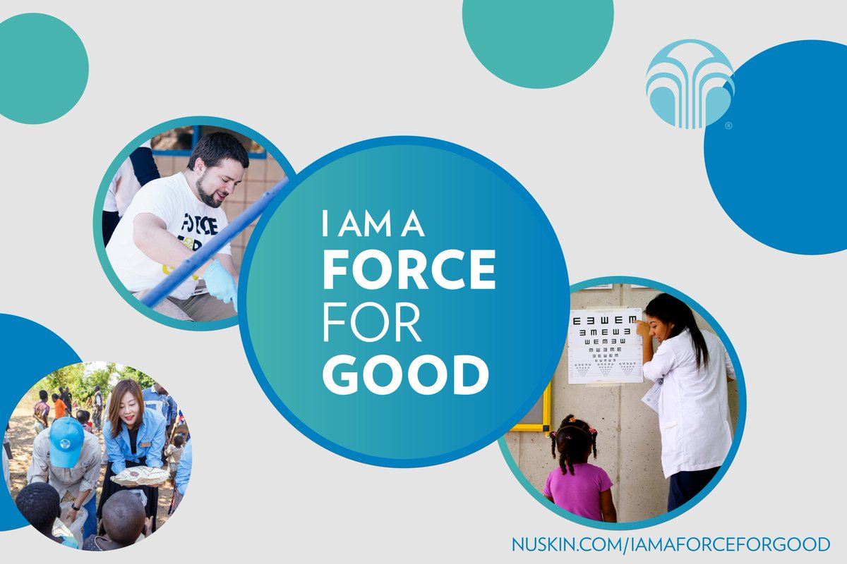 Are you a Force for Good? As part of Nu Skins force for good efforts, each month we will be highlighting an individual who is making a difference around the world. Check it out! #NuSkinGives http://bit.ly/3bRtcDG