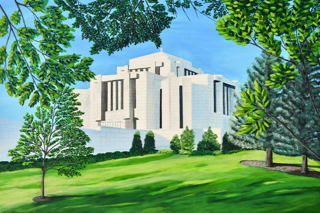 Cardston, Alberta Temple Painting. The original and giclée prints available!   #art #temple #lds #painting #emergingartist