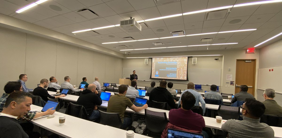 """We just wrapped up our time in #NewYork and #Philadelphia for our """"Accelerating #DevSecOps in the Enterprise with #Azure"""" roadshow. We've got one more this week—#Boston here we come! @github @colindembokyvs @Microsoft #MSUSPartner #10MEvents"""