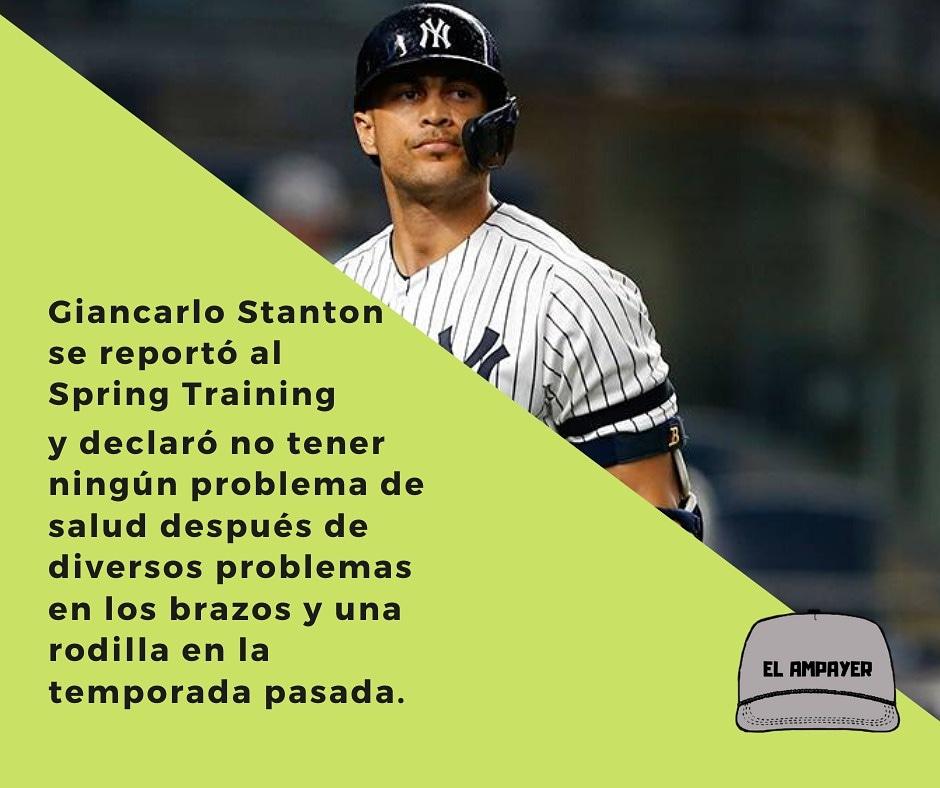 Al parecer estaremos escuchando más sobre el jugador en la temporada 2020. . . . #béisbol #beisbolistas #lmp #lmb #mlb #GiancarloStanton #Yankees #NewYork #NuevaYork #springtraining🌵⚾️ #ElAmpayer🧢