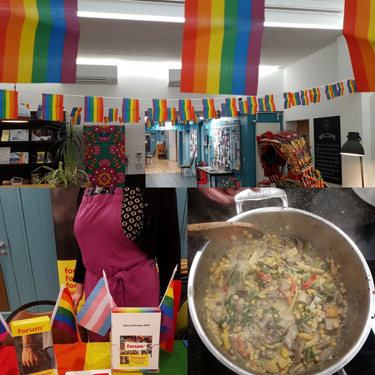 Celebrating #LGBTHistoryMonth!! Cooking with pride with @forumplus