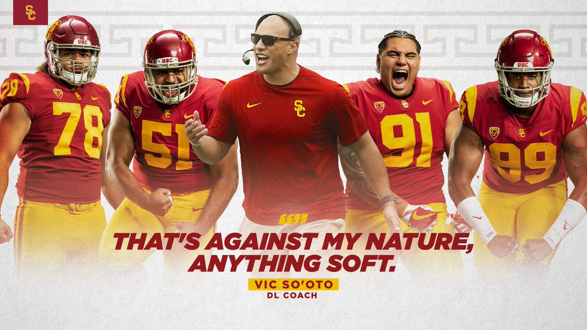 Usc Trojans On Twitter The New Defensive Line Coach Has A Clear And Concise Message Fighton