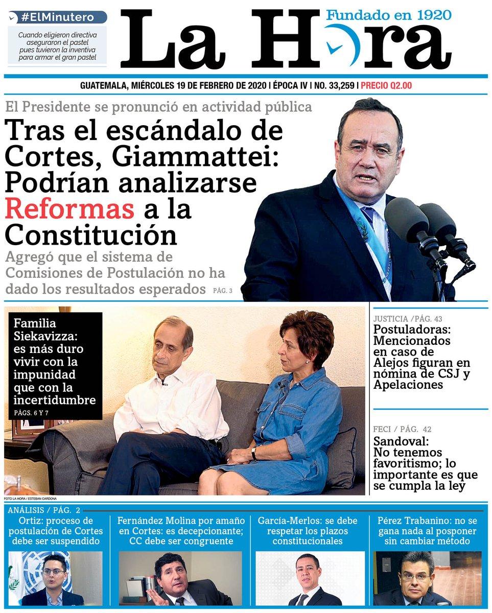 """test Twitter Media - PORTADA DE HOY: """"Tras el escándalo de Cortes, Giammattei: Podrían analizarse Reformas a la Constitución"""" https://t.co/qjYYzsdCQP"""