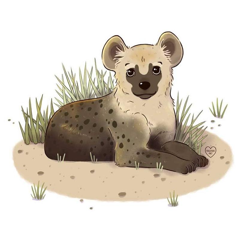 Babby hyena! #illustration #animalart