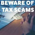 Image for the Tweet beginning: BEWARE: Tax scams are at