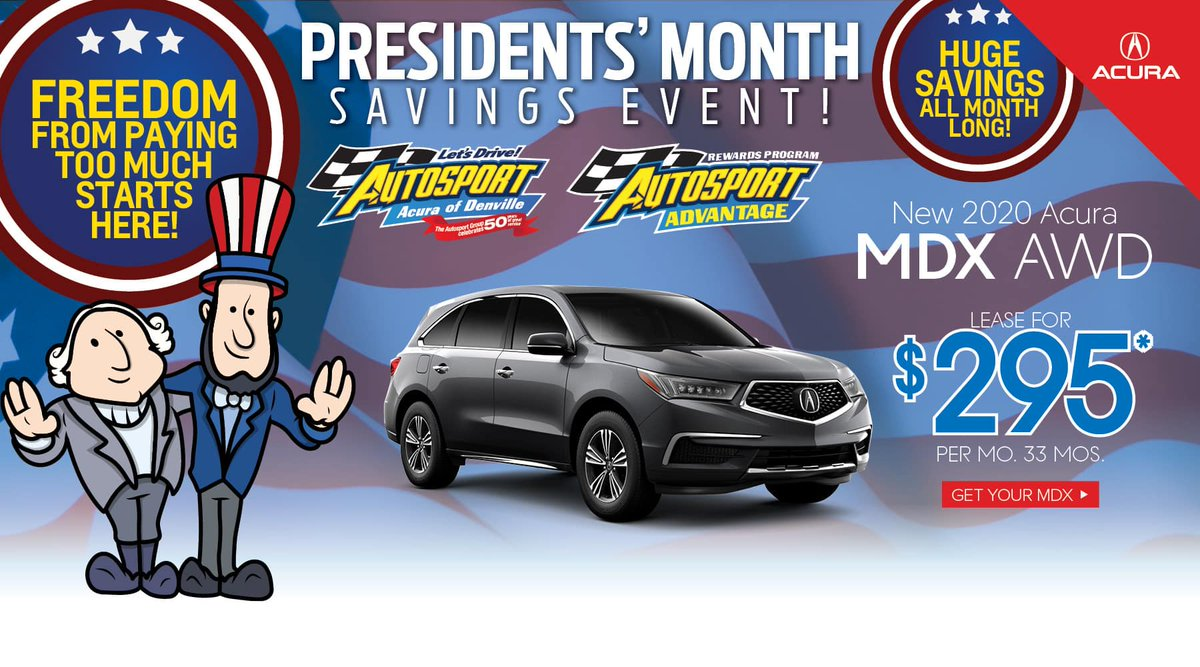Save BIG while our offers last! Hurry in for one of our gorgeous MDX models. https://bit.ly/2MqtpCQ       #AutosportAcuraofDenville #AutosportAcura #Acura #AcuraUSA #luxuryvehicles #luxurycars #newacura #shopacura #reallyfastcars #amazingcars247 #carstagram #MDXpic.twitter.com/yzu3efbbFA