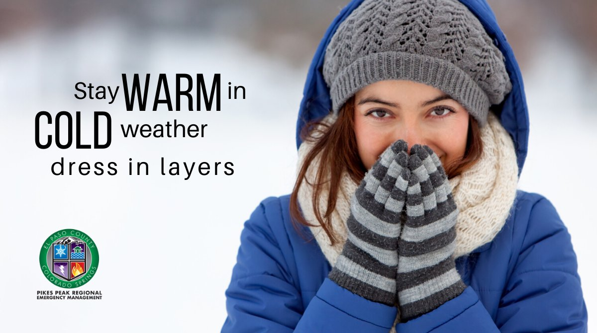 How do you survive Colorado weather? LAYERS! Layers are the key to being comfortable in Colorado all year long, but especially in the winter! So, stay safe in the cold by bundling up, staying dry and covering exposed skin. #ResolveToBeReady #COSprepared