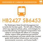Image for the Tweet beginning: Carbon Washington has endorsed: HB2427/SB6453