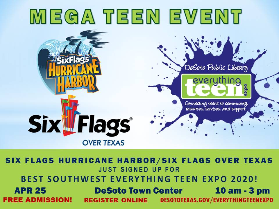 @SixFlagsOverTX  and @SixFlagsHH just signed up for @ETE2016BSW! Don't forget to visit their vendor table. Teens may register for this free event at  https://www. eventbrite.com/e/best-southwe st-everything-teen-expo-2020-tickets-79402869119?aff=efbeventtix&fbclid=IwAR0ukN-Pza1qhwiO4kynty5JYvAjGc-8s7e-zklFvcThDzeUT6Hxu2sAqz4  … <br>http://pic.twitter.com/z1PHbCDwuQ