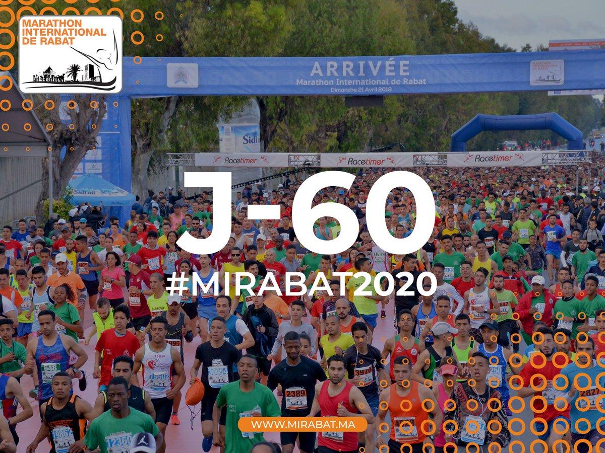 60 يوم فقط تفصلنا عن ماراطون الرباط الدولي، كونوا في الموعد يوم الأحد 19 أبريل 2020   #Mirabat2020 #MarathonRabat https://t.co/hPfT2aCNjS