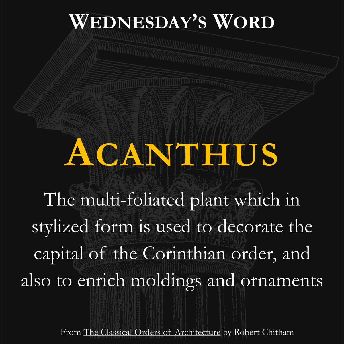 #Columns  #Chadsworth  #1_800_Columns  #TheColumnGuy  #ICAA  #Classicism  #ClassicalArchitecture  #TraditionalArchitecture  #WordoftheDay  #WednesdaysWord  #ArchitecturalDetails  #Architecture  #Education  #Learning  #TheMoreYouKnow  #Wednesday  #Definition  #WednesdayWisdom  #CorinthianOrder