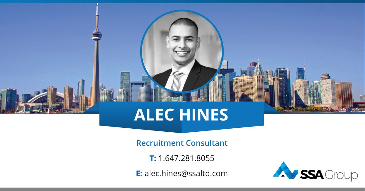 A big welcome to Alec Hines who joins our Toronto office to provide recruitment solutions across the General Contracting sector in Toronto and the GTA.  Contact him at: alec.hines@ssaltd.com | +1 647 281 8055 @SSARecruitCan   #constructionnews #jobs #recruitment #newteammemberpic.twitter.com/G9j4gKERnC