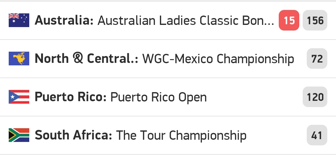 Tomorrow, 4 big competitions on #Golf  will start ..🏌️