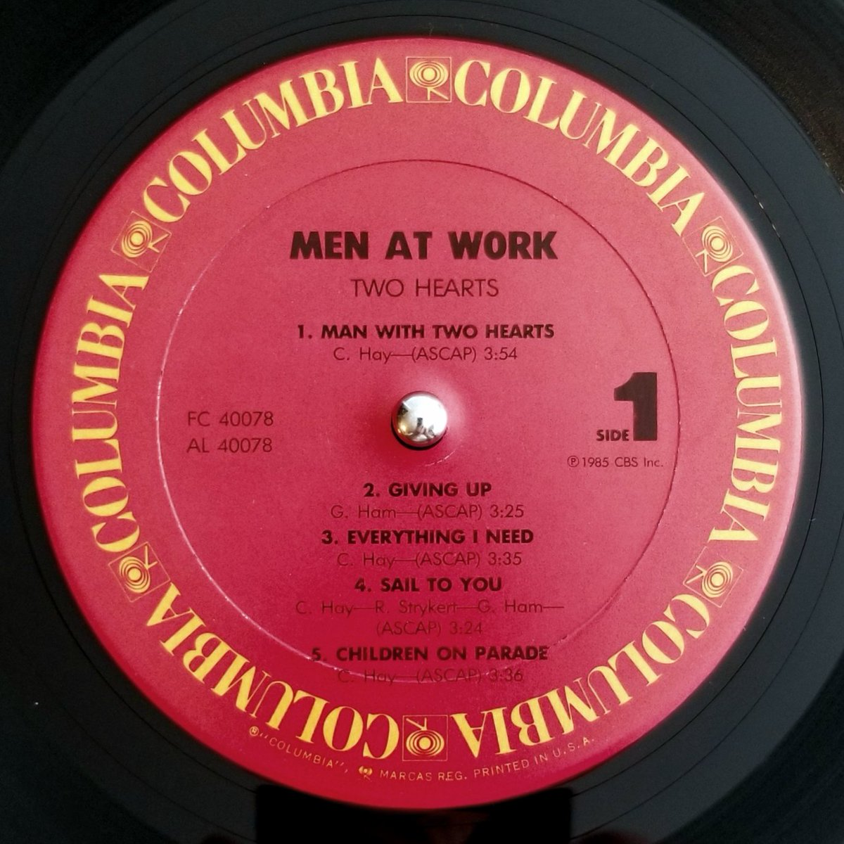#MenAtWork #TwoHearts #Columbia #RecordLabel #SonicRecreation #FullDynamicRange #WhatsSpinning #NowPlaying #VinylRecords #VinylRulespic.twitter.com/DQ7SvidPcI
