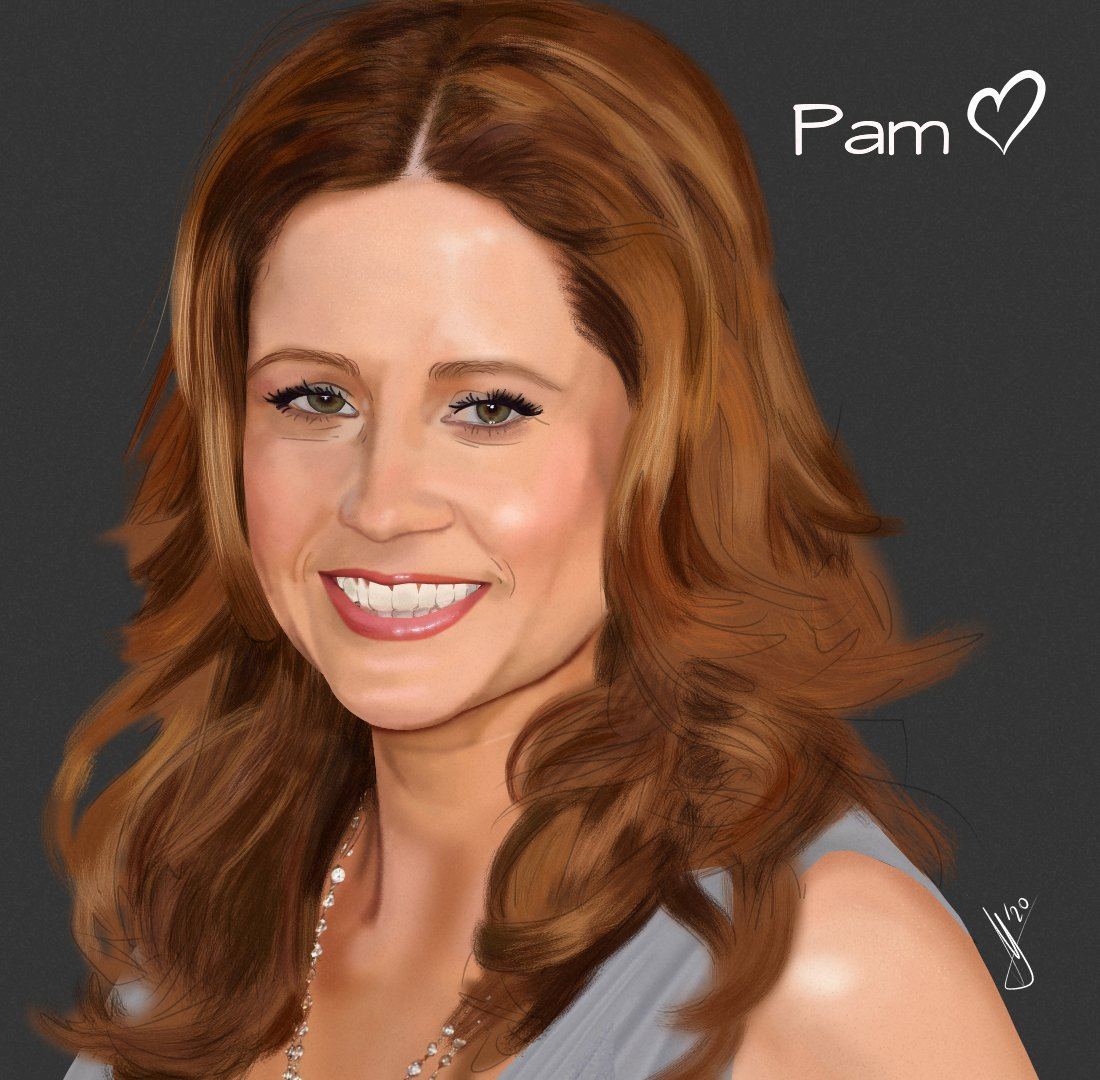 WIP i'm more proud of the mini-heart than the entrire portrait lmao @jennafischer #jennafischer #pambeesly #theoffice #dundermifflinpic.twitter.com/ABkToVfhBn