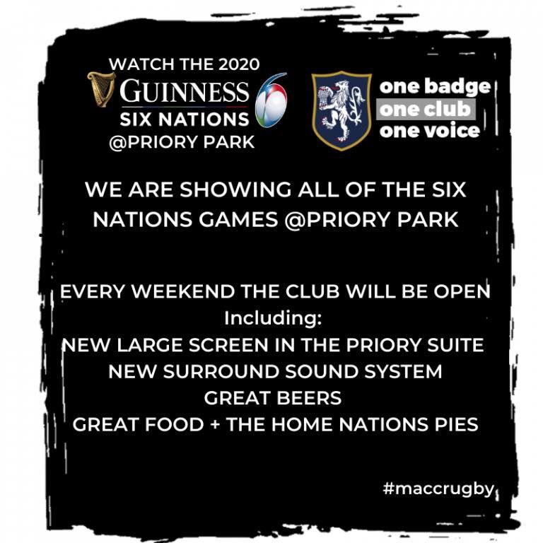 test Twitter Media - All 6 nations games are showing at the club house. Our 3s & 4s are at home in the cup on Saturday along with Ita v Sco & Wal v Fra. Sunday brings us Eng v Ire.   Support your club by supporting your country, all profits go back into making our club a fantastic place to be! https://t.co/JTcSA8GAcs