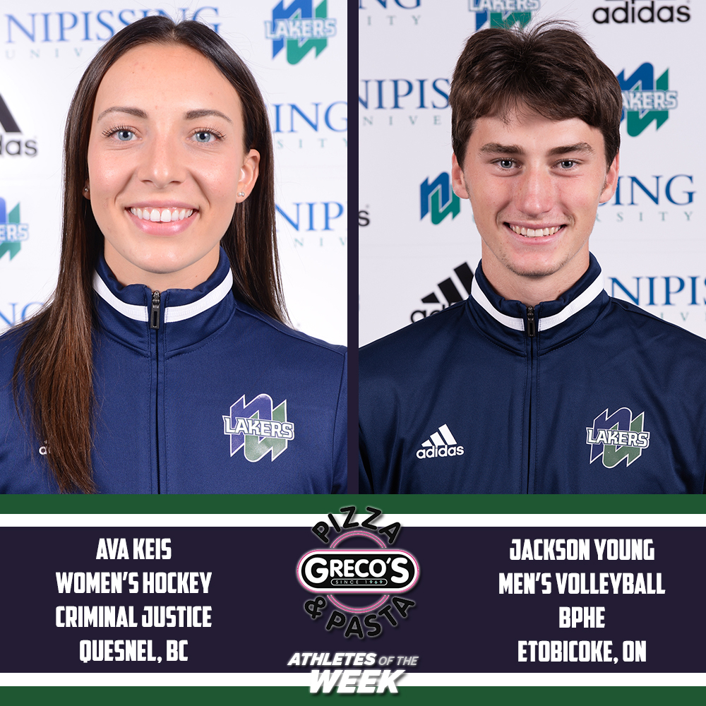 Congrats to the #Lakers Greco's Athletes of the Week; Ava Keis (WHKY) and Jackson Young (MVB). #GoLakers #LakersPRIDE #NortherNUprisingpic.twitter.com/WsGMLlhUKO