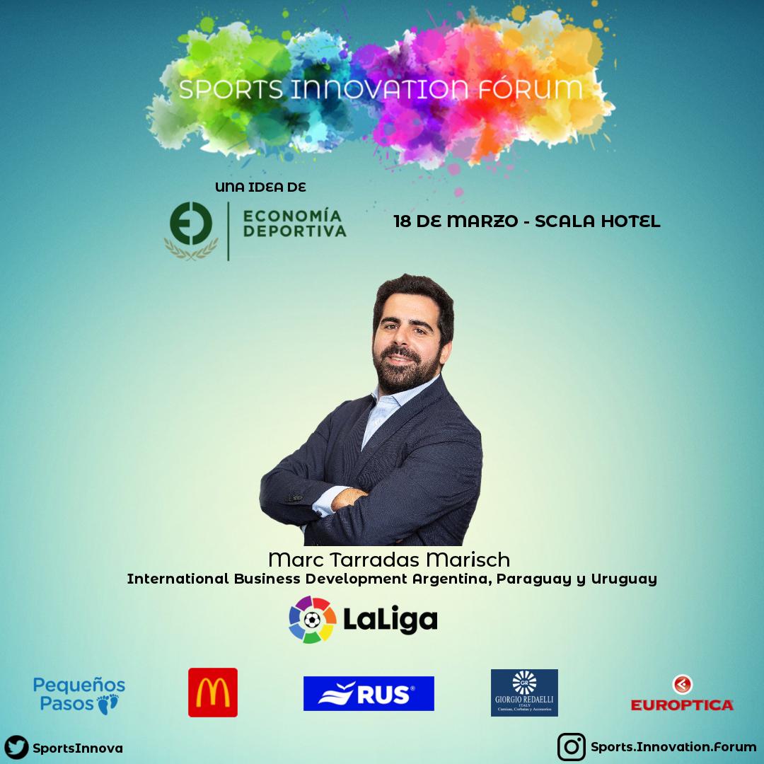 Marc Terradas es el responsable para Argentina, Uruguay y Paraguay de @LaLiga, el nos comentará acerca de la estrategia comercial sobre la cual trabajan en la región.pic.twitter.com/XXqGX91UJn