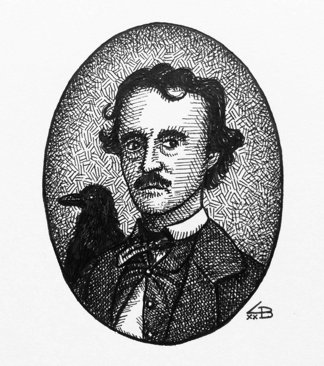 Small Poe portrait.