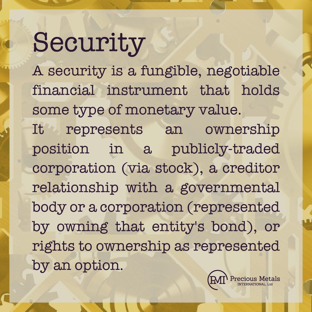 #BullionPMI  #Definition  #Security  #FinancialInstrument  #Stocks  #Bonds  #Investing  #Investment  📈