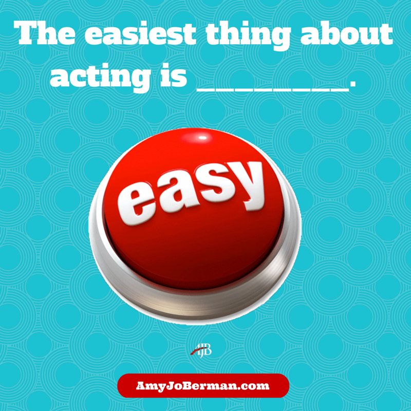 The EASIEST thing about #acting is _____! #fillintheblankpic.twitter.com/NbkSLB9nWP