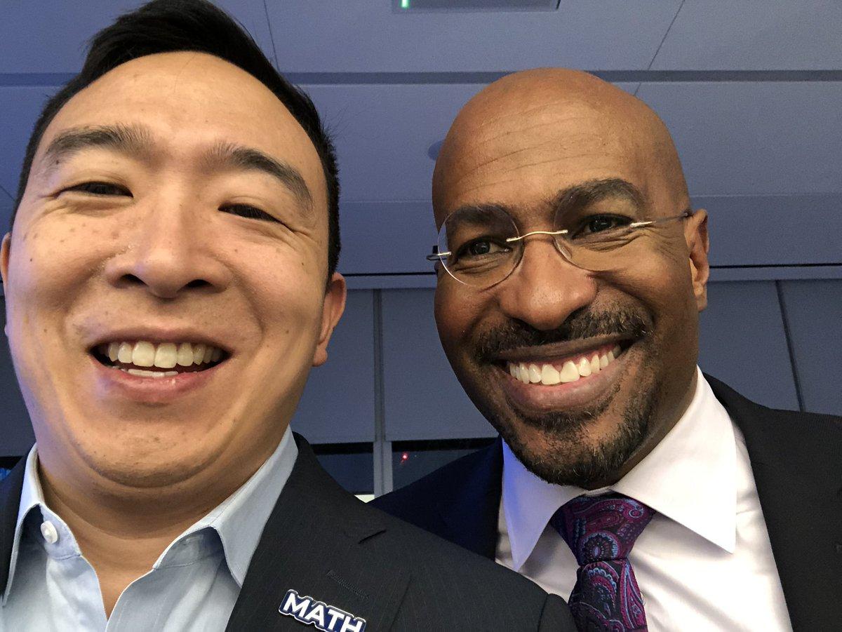 Watching the debate with #YangGang favorite @VanJones68 👍