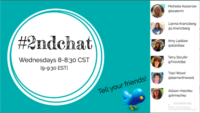 Come back next week as we focus on Morning Meetings with @learnwithwood. Invite a friend! #2ndchat