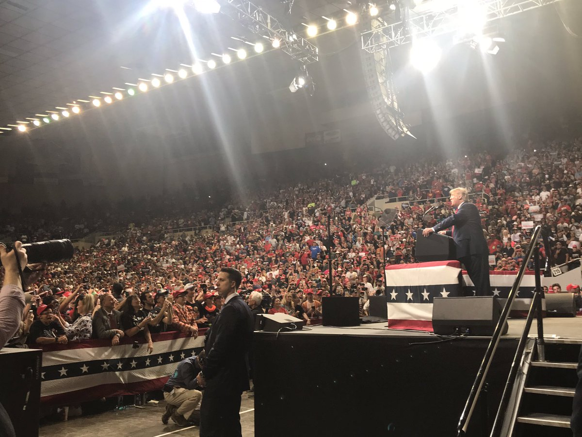 Tremendous crowd tonight in Phoenix for @realDonaldTrump rally - so much energy and excitement.  Arizona was key to the President's winning coalition in 2016 and will be there for him again in 2020.  So much good news to share and THE BEST IS YET TO COME!  #KeepAmericaGreat