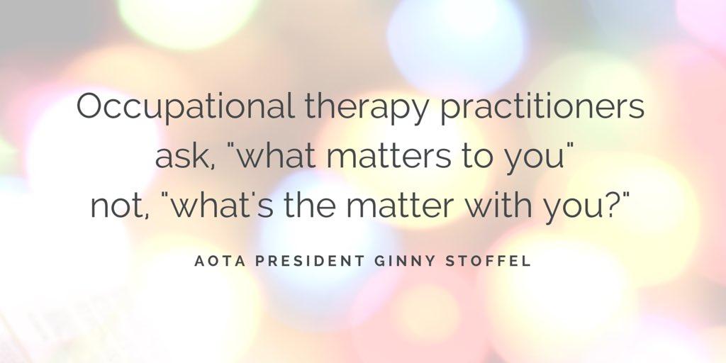 #OT  #OccupationalTherapy  #AOTA