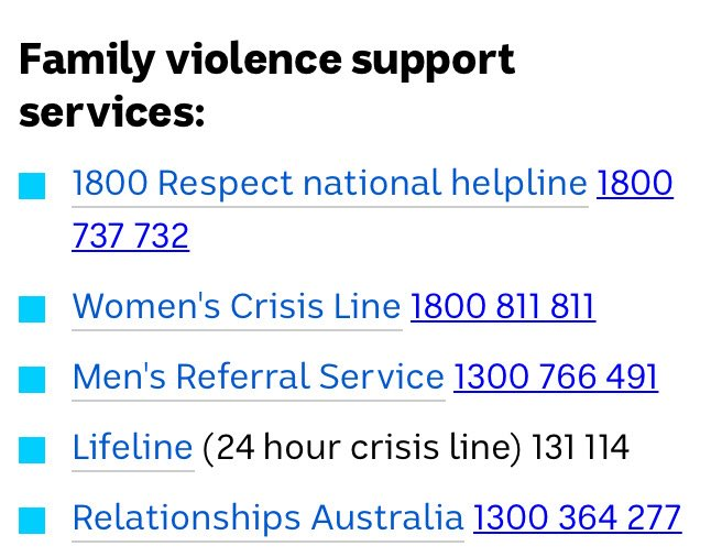 The #DomesticViolence Line in NSW is 1800 65 64 63. #dfv Thanks Annabelle Daniel @WCS_CEO