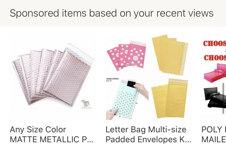 What is fuCKING UP MY DUDES GUESS WHOS GETTING METALLIC PINK MINI PADDED ENVELOPES