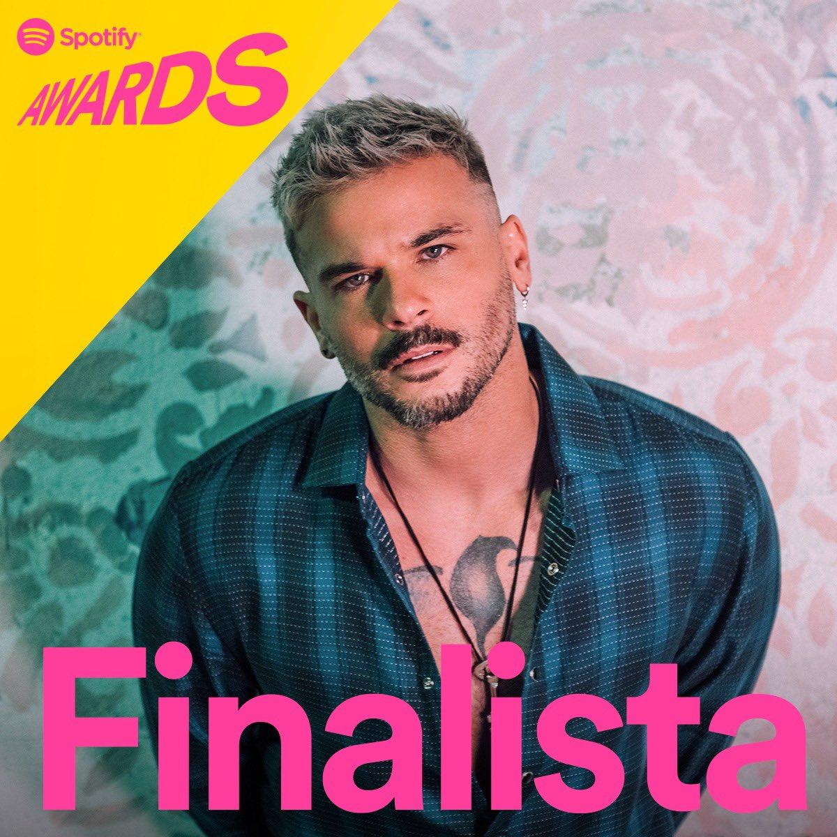 Familia! Gracias a su apoyo hoy soy uno de los finalistas de #SpotifyAwards 🎵 en estas categorias Canción Más Escuchada, Compositor A Canción Más Escuchada & Canción con Más Días En El Top 50 🔥💥💚 ¡MUCHAS GRACIAS! @SpotifyMexico @Spotify_LATAM