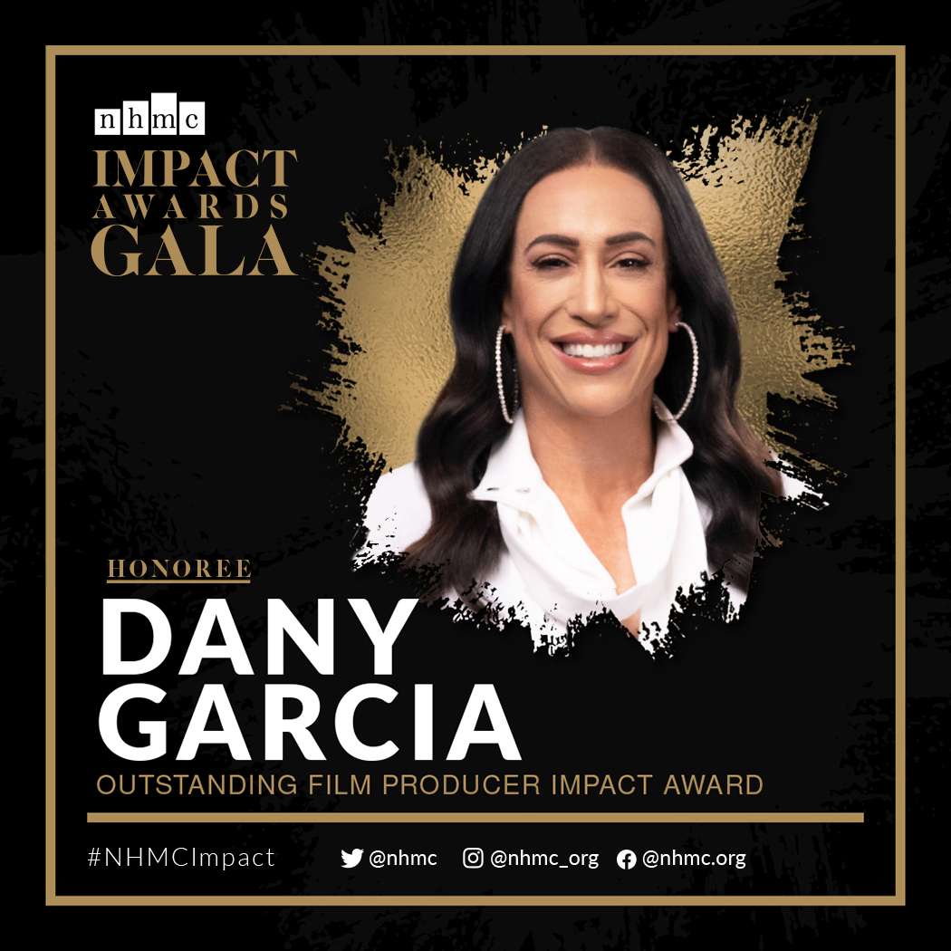 Congrats to @DanyGarciaCo for her Outstanding Film Producer Impact Award! She's known for producing the blockbusters @jumanjimovie, @HobbsAndShaw, & the upcoming @JungleCruise. She is the chairwoman & CEO of @GarciaCompanies & @TGCMGMT & co-founder of @SevenBucksProd. #NHMCImpact<br>http://pic.twitter.com/WwA9VHPr09