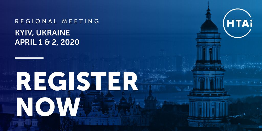 Have you heard about our Regional Meeting in Kyiv, Ukraine? Take a minute and check out the details: https://buff.ly/2P8Ct0q  #HTA #HealthTech #Ukraine #HTAiRegional2020 #HTAiUkrainepic.twitter.com/tUl28EDt5i